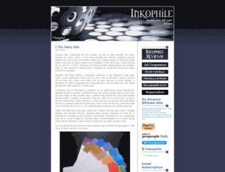 inkophile.wordpress.com screenshot