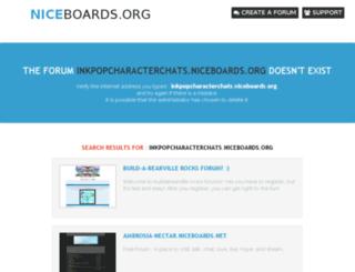 inkpopcharacterchats.niceboards.org screenshot