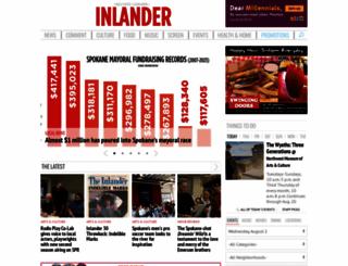 inlander.com screenshot