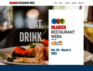 inlanderrestaurantweek.com screenshot