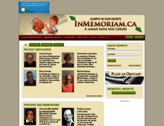 inmemoriam.ca screenshot