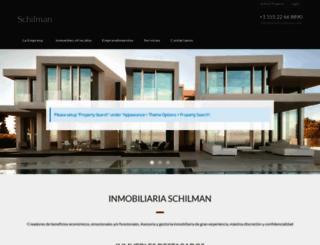 inmobiliariaschilman.com screenshot