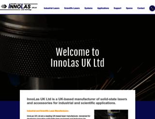 innolas.co.uk screenshot