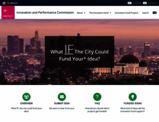 innovate.lacity.org screenshot