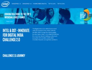 innovatefordigitalindia.intel.in screenshot