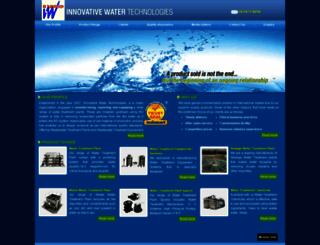 innovativewatertechnologies.co.in screenshot