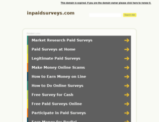 inpaidsurveys.com screenshot
