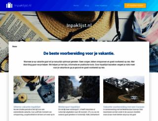 inpaklijst.nl screenshot