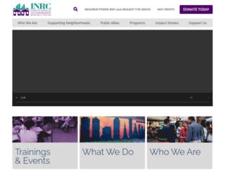 inrc.org screenshot