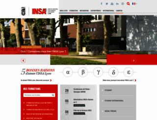 insa-lyon.fr screenshot