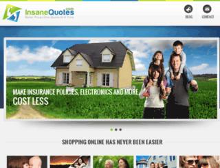 insanequotes.com screenshot