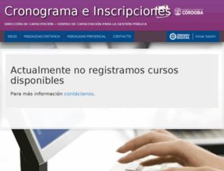 inscripciones.cba.gov.ar screenshot
