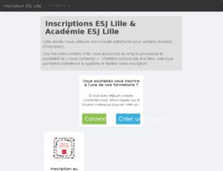 inscription.esj-lille.fr screenshot