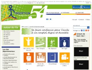 insertion.cg54.fr screenshot