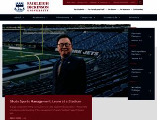 inside.fdu.edu screenshot