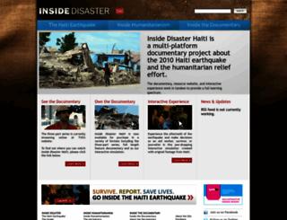 insidedisaster.com screenshot
