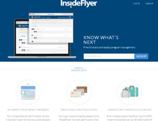 insideflyer.traxo.com screenshot
