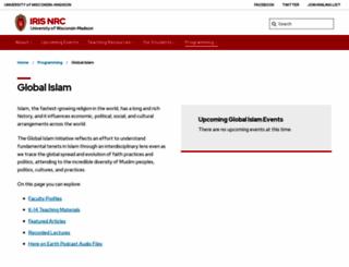 insideislam.wisc.edu screenshot
