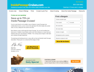 insidepassagecruises.com screenshot