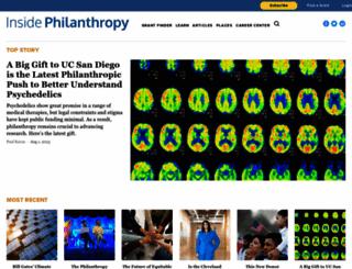 insidephilanthropy.com screenshot