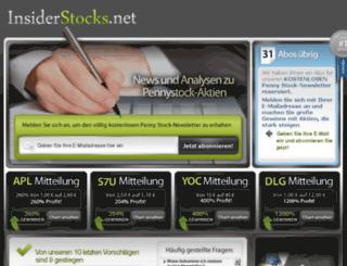 insiderstocks.net screenshot