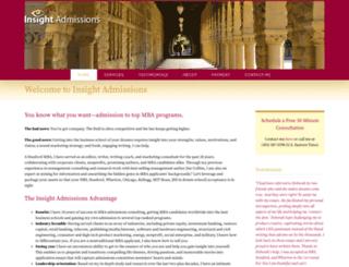 insightadmissions.com screenshot