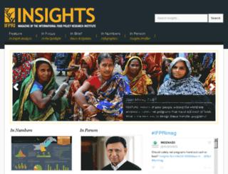 insights.ifpri.info screenshot