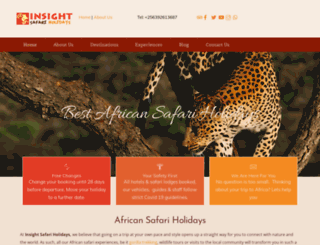 insightsafariholidays.com screenshot