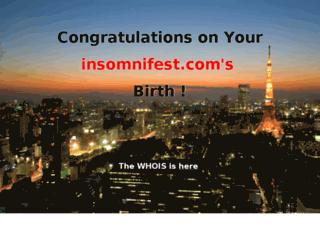 insomnifest.com screenshot