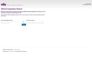 inspections.ally.com screenshot