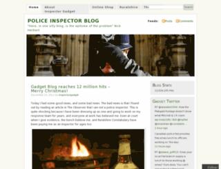 inspectorgadget.wordpress.com screenshot