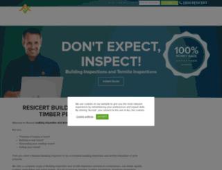 inspectors.resicert.com screenshot
