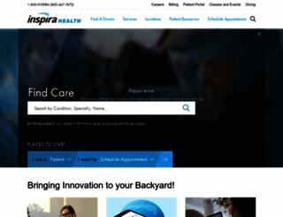 inspirahealthnetwork.org screenshot