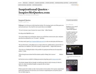 inspiremequotes.com screenshot
