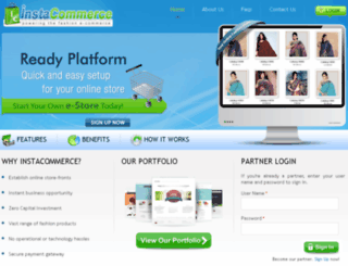 instacommerce.com screenshot