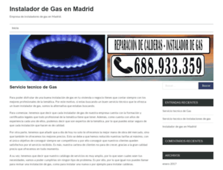 instaladordegasmadrid.es screenshot