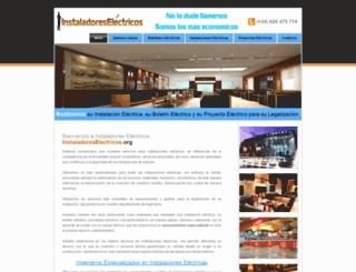 instaladoreselectricos.org screenshot