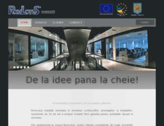 instalatii.romlotus.ro screenshot