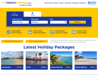 instant-holidays.co.uk screenshot