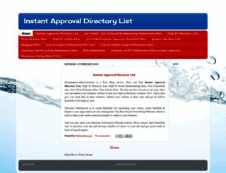 instantapprovaldirectorylists.blogspot.in screenshot
