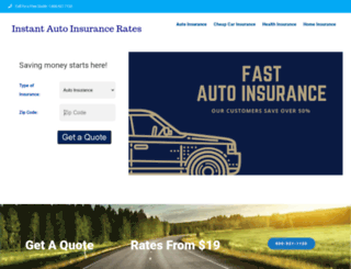instantautoinsurancerates.com screenshot