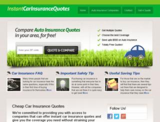instantcarinsurancequotes.net screenshot