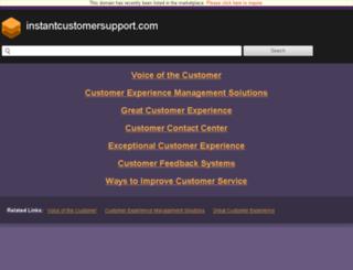 instantcustomersupport.com screenshot