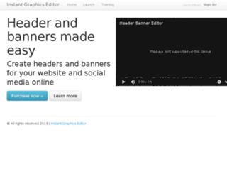 instantgraphicseditor.com screenshot