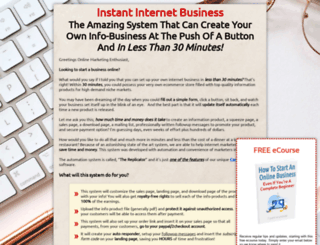 instantinternetbusiness.com screenshot