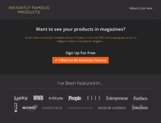 instantlyfamousproducts.com screenshot
