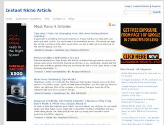 instantnichearticle.com screenshot
