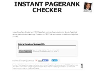 instantpagerankchecker.com screenshot