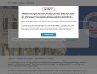 instantpeoplefinder.com screenshot
