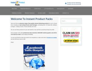 instantproductpacks.com screenshot
